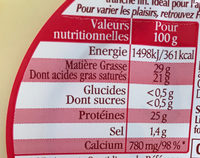 Extra Fines Classic - Nutrition facts - fr