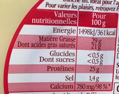 Extra Fines Classic - Nutrition facts