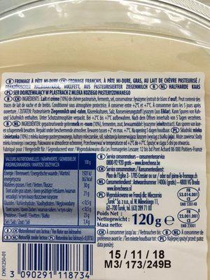 Chavroux - Ingredienti - fr