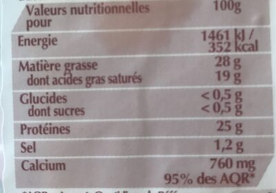 Fol Epi - Nutrition facts