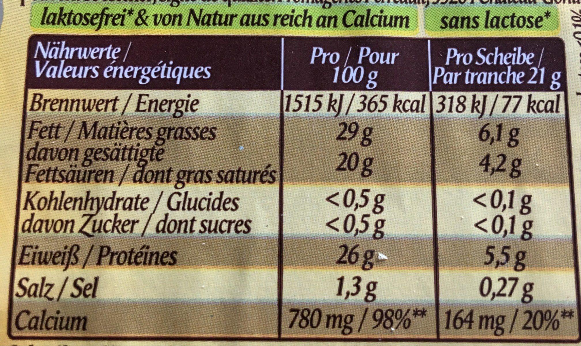 Fol Epi Herzhaft Würzig - Informations nutritionnelles - fr