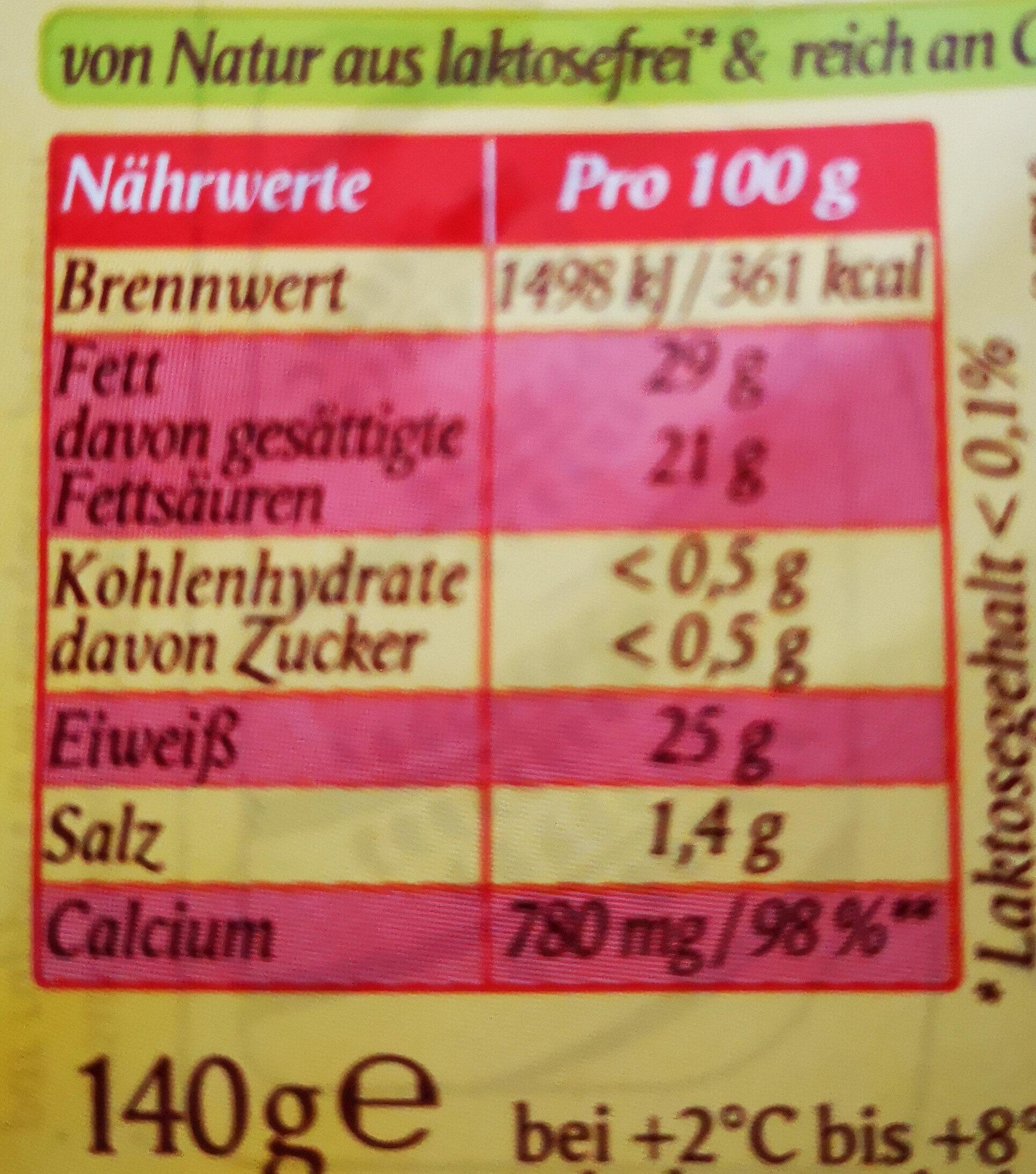 Fol Epi Classic & Caractère - Informations nutritionnelles