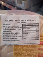 Fol Epi Discs Classic Cheese - Ingrédients - fr