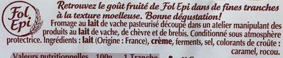 Fol Epi tranché au lait pasteurisé extra fondant, 29% de MG - Ingrédients - fr