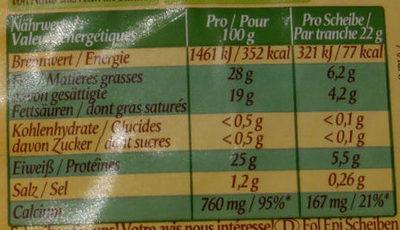 Fol Epi a la Pesto - Informations nutritionnelles