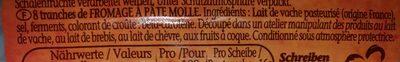 Chaumes tranches moelleuses avec du caractère - Ingrédients