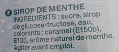 Mega Menthe Verte - Ingredients