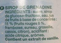 Grenadine méga - Ingrediënten
