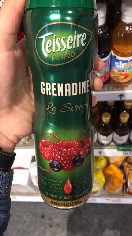 Grenadine sirop - Producto - fr