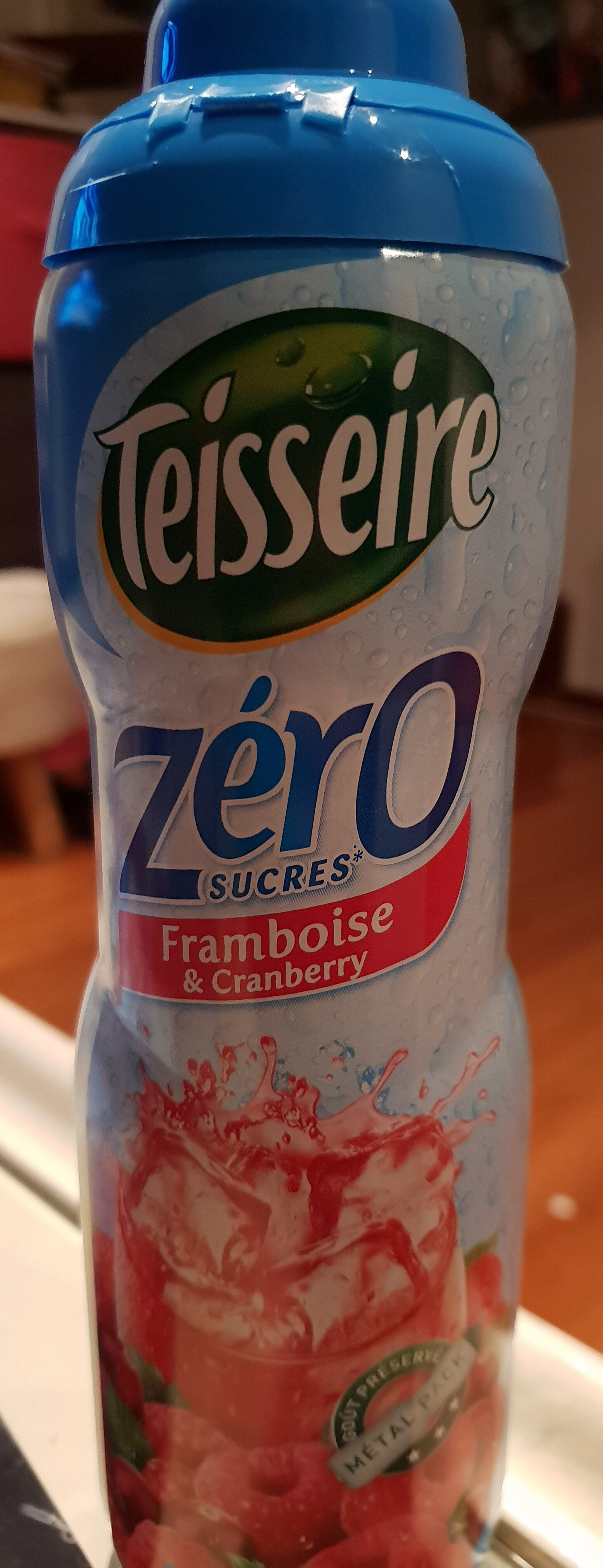 Sirop framboise et cranberry zéro sucre - Prodotto - fr