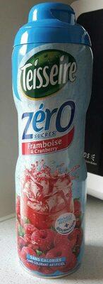 Sirop Framboise Cranberry 0% de sucre - Product - fr