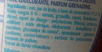 Sirop Teisseire 0% Grenadine - Ingrediënten