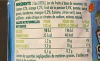 Fruit Shoot - Nutrition facts - fr