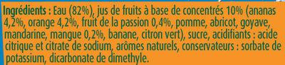 Fruit Shoot Tropical - Ingredients