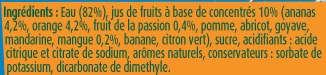 Fruit Shoot Tropical - Ingrédients - fr