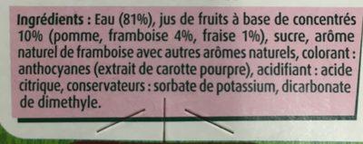 Boisson Aux Fruits Rouges Shoot Teisseire, - Ingredients
