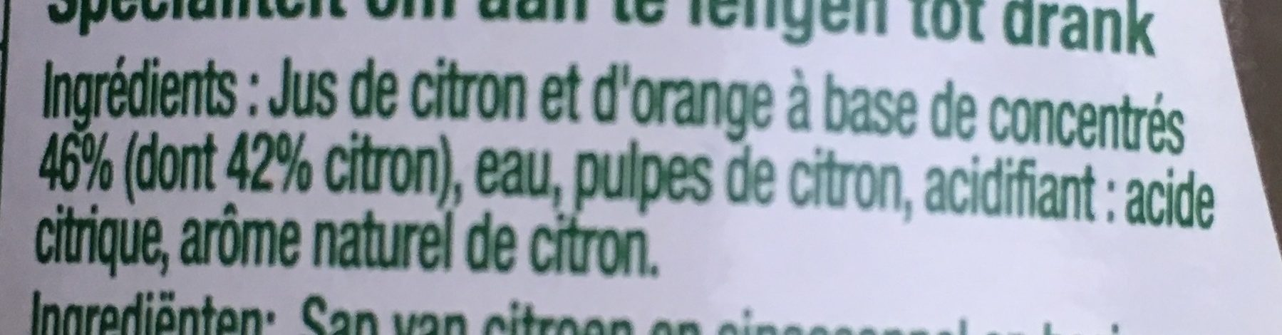 Sicilia Citron - Ingrediënten