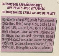 Fruit Shoot Multivitaminé - Ingredients - fr