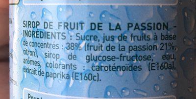 Sirop fruit de la passion - Ingrédients - fr