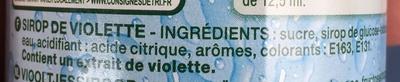 Sirop de violette - Ingredients - fr