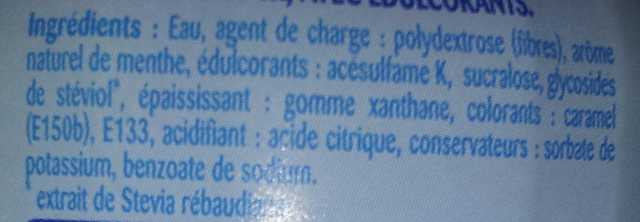 Sirop Menthe Stevia - Ingredients - fr