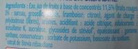 Teisseire 0% Grenadine - Ingrediënten