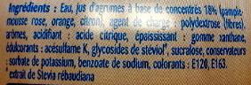 Teisseire Zero Sucre Agrumes - Ingrédients - fr
