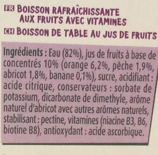 Fruit Shoot Multivitaminé - Ingrédients