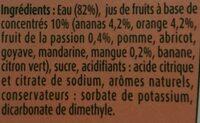Fruit Shoot Tropical - Ingredients - fr
