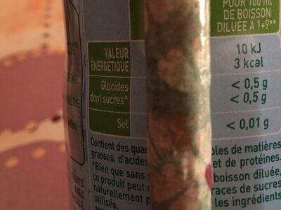 Tropical Zéro Sucres - Valori nutrizionali - fr