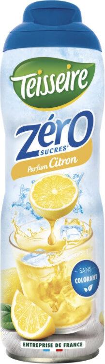 Sirop Citron Zéro sucres - Produit - fr