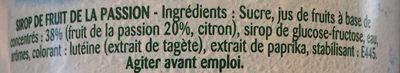 Teisseire passion - Ingrediënten - fr