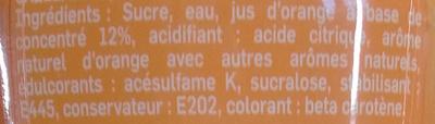 Concentrée pour machine à soda Orange - Ingredients - fr