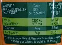 Concentrée pour machine à soda Orange - Nutrition facts - fr