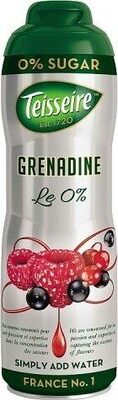 Le 0% Grenadine Sugar Free Cordial - Product - fr