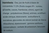 Le 0% Grenadine Sugar Free Cordial - Ingrediënten - fr
