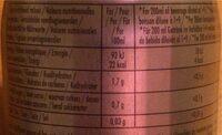 Le 0% Grenadine Sugar Free Cordial - Voedingswaarden - fr