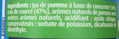 Fruit Shoot Fruizeo pomme - Ingrédients - fr