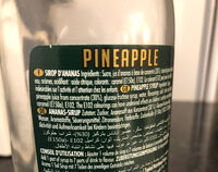 Ananas Pineapple Le sirop - Ingredients - fr