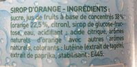 Sirop d'orange - Ingrédients - fr