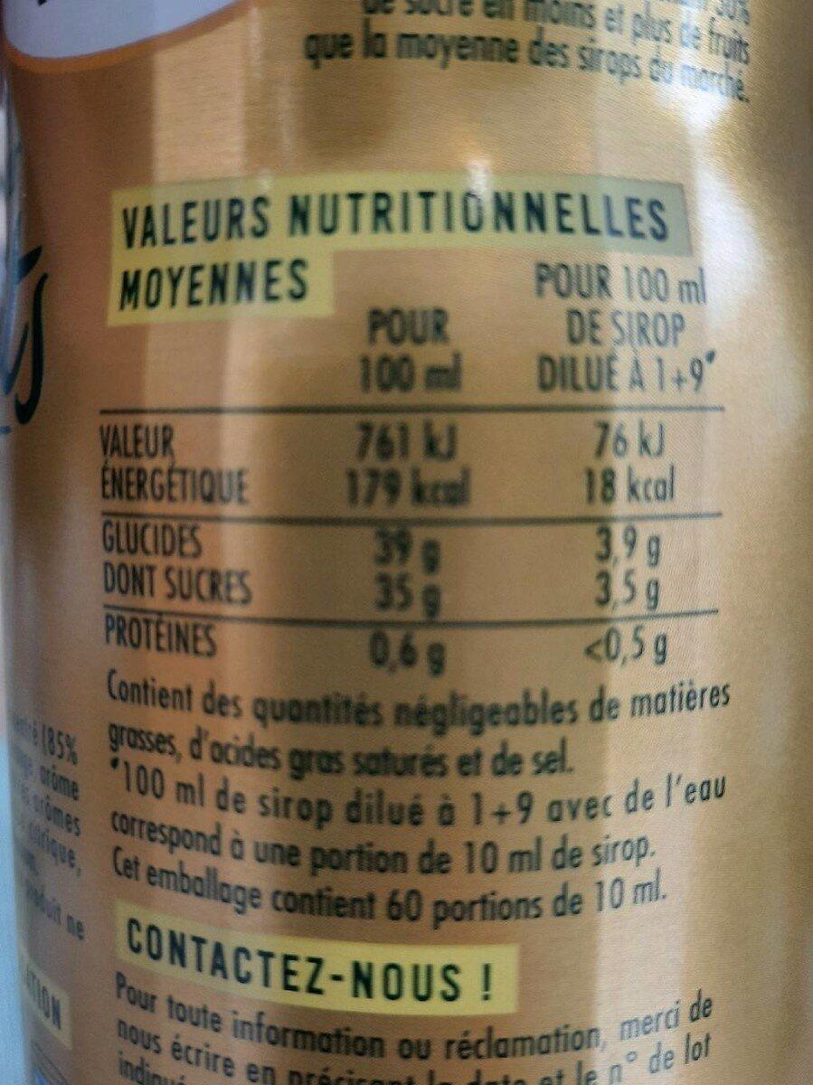 Fraîcheur de fruit citron - Informations nutritionnelles - fr