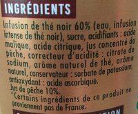 Thé  noir pêche - Ingrédients - fr