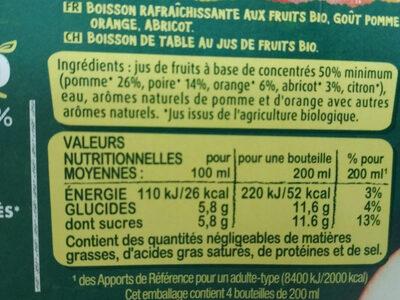 Fruit shoot au jus bio multifruits - Ingredienti - fr