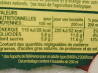Fruit shooté au jus bio multifruits - Voedingswaarden - fr