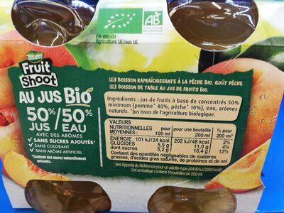 Fruit shoot au jus bio de pêche - Ingredients