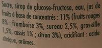 Mega Sirop de fruits Grenadine - Ingrediënten - fr