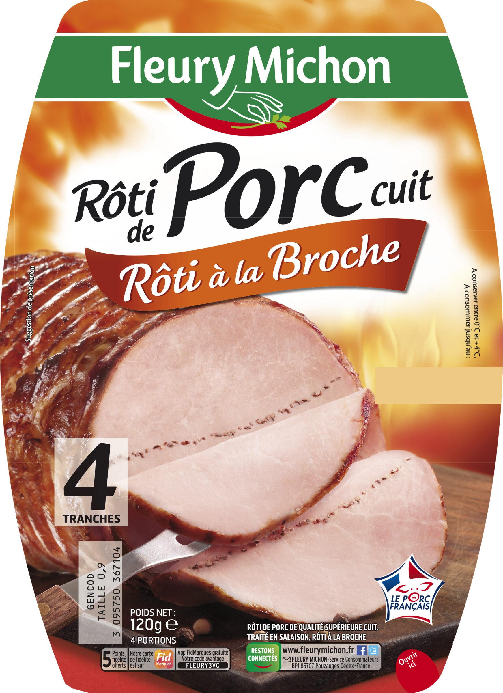 Rôti de porc cuit rôti à la broche - 4 tranches - Product