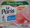 Le Paris (- 25 % de Sel) - Produit