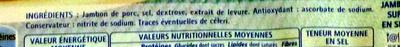 Le Jambon de Paris (- 25 % de Sel) 4 Tranches + 2 Gratuites - Ingredients