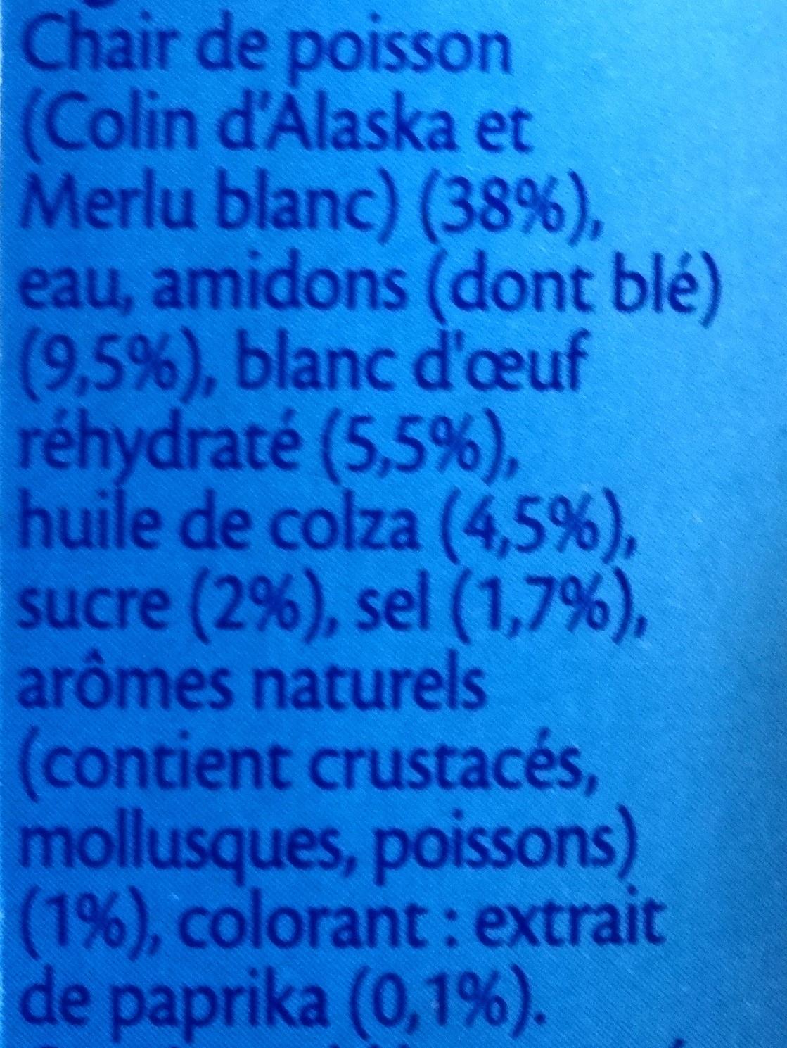 Le bâtonnet Moelleux - 10 bâtonnets - Ingrediënten - fr